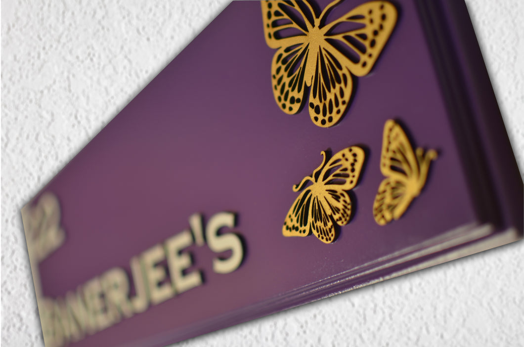 Butterflies Cherish Name Plate