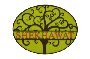 Tree Of Life Oval LED Name Plate