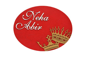 King & Queen Oval LED Name Plate