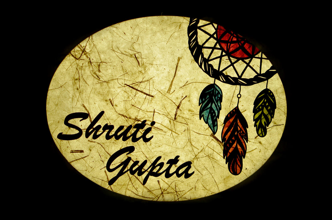 Dream Catcher Oval LED Name Plate