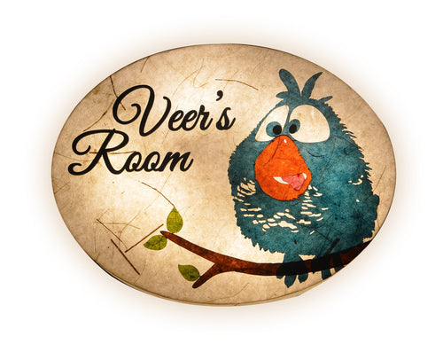 Bird Cartoon Oval LED Name Plate