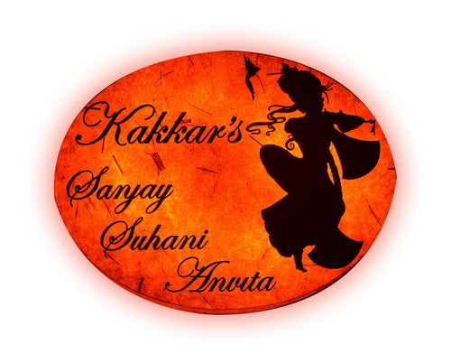 Krishna Oval LED Name Plate