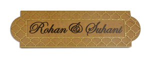 Moroccan Parisian LED Name Plate
