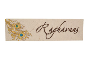Rain Dance Rectangle LED Name Plate