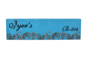 Paisley Line Rectangle LED Name Plate