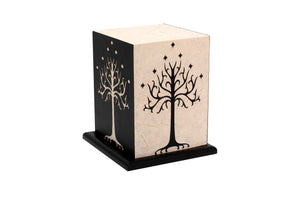 Love My Space Collection - White Tree LED Table Lamp