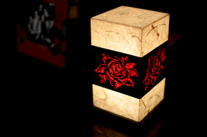 Love My Space Collection - Red Roses LED Table Lamp