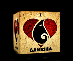 I Love Ganesha LED Table Lamp