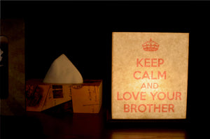 Love Your Bother LED Table Lamp