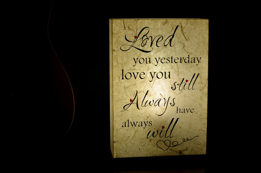 Loved You Always LED Table Lamp