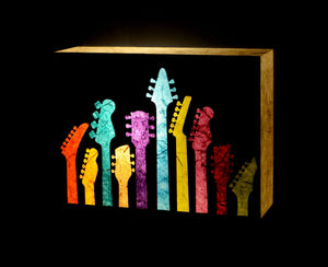 Ten Guitars LED Wall Lamp