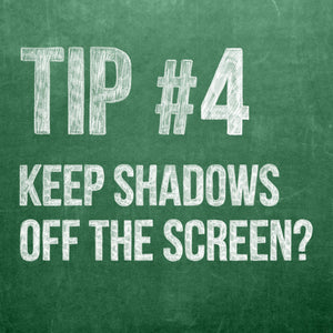 Theatre Projections Tip 4, How to Keep Actors' Shadows Off the Screen
