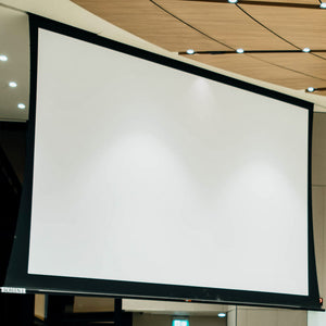 Projection screen for digital backdrops