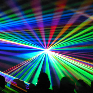Spectrum of colored light rays
