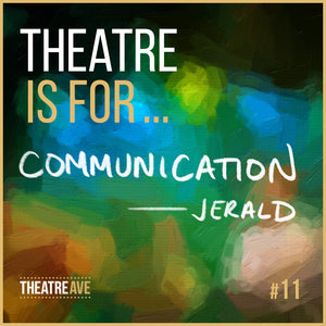 Theatre is for communication, teaching artist Jerald Bolden
