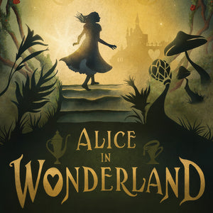 Digital illustration for Alice in Wonderland poster art by Mitch Stark