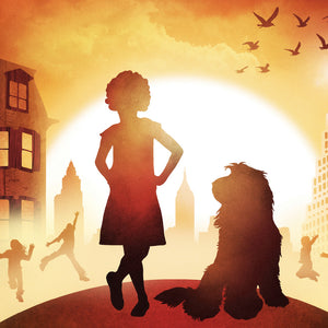 Poster design artwork for Annie the Musical by Theatre Avenue