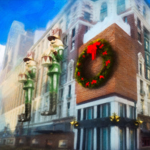 Christmas Department Store projection for Elf the Musical