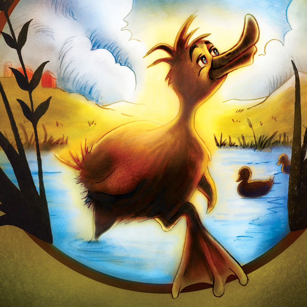 Ugly duckling illustration for theatre show HONK