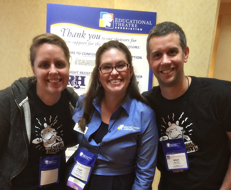 Mitch Stark and Julie McGowan with Angel Wuellner of the EdTA