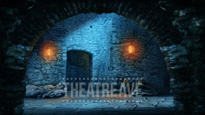Castle Dungeon, a digital theatre projection backdrop for shows like Joseph, Wizard of Oz, Beauty and the Beast and beyond