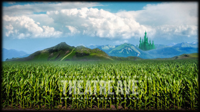 Cornfield Journey, an original theatre projection backdrop for shows like The Wizard of Oz