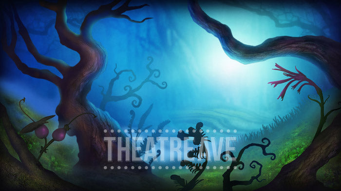 Dark Woods, a whimsical theatre projection for shows like The Wizard of Oz, Alice in Wonderland and Big Fish