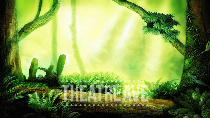 Deep in Jungle, a digital theatre projection backdrop perfect for shows like Jungle Book, Lion King and more