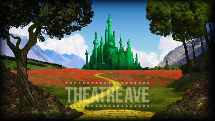 Emerald City, a digital projection backdrop for theatre, ballet and dance performances like The Wizard of Oz and The Wiz
