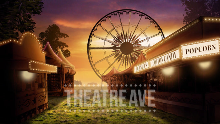Fair at Dusk, an animated projection backdrop perfect for shows like Charlotte's Web, Big Fish, and more