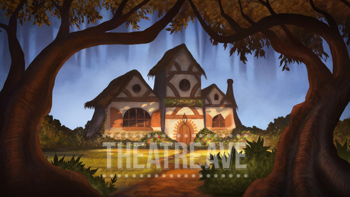 Fairy Tale Cottage, a digital projection backdrop perfect for shows like Snow White, Hansel and Gretel and beyond