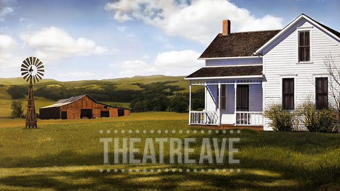 Old Farmhouse, a digital projection backdrop for shows like Charlotte's Web, Oklahoma, and Wizard of Oz