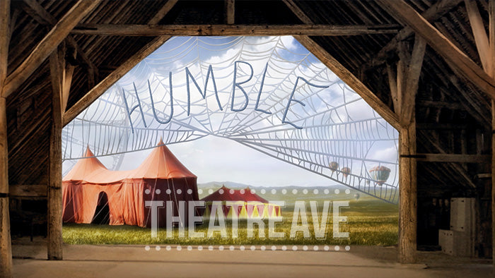 Humble Barn, a digital projection backdrop perfect for shows like Charlotte's Web