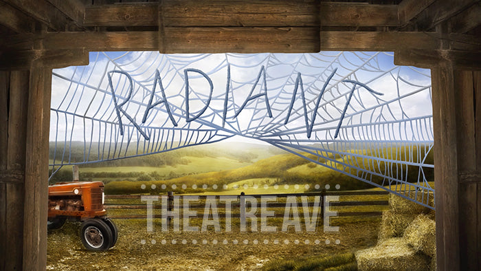 Radiant Barn, an animated digital projection for Charlotte's Web