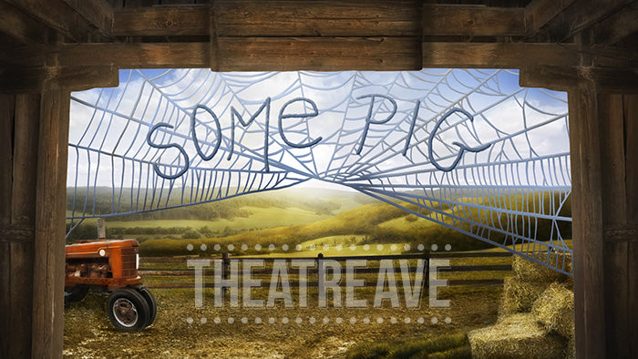 Some Pig Barn, a theatre projection for Charlotte's Web productions