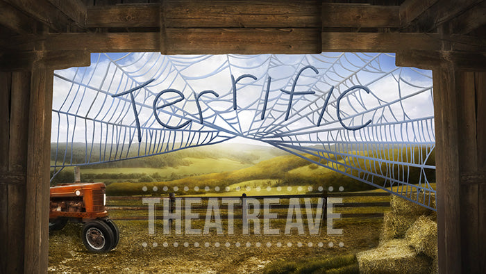 Terrific Barn, a digital theatre projection backdrop for Charlotte's Web