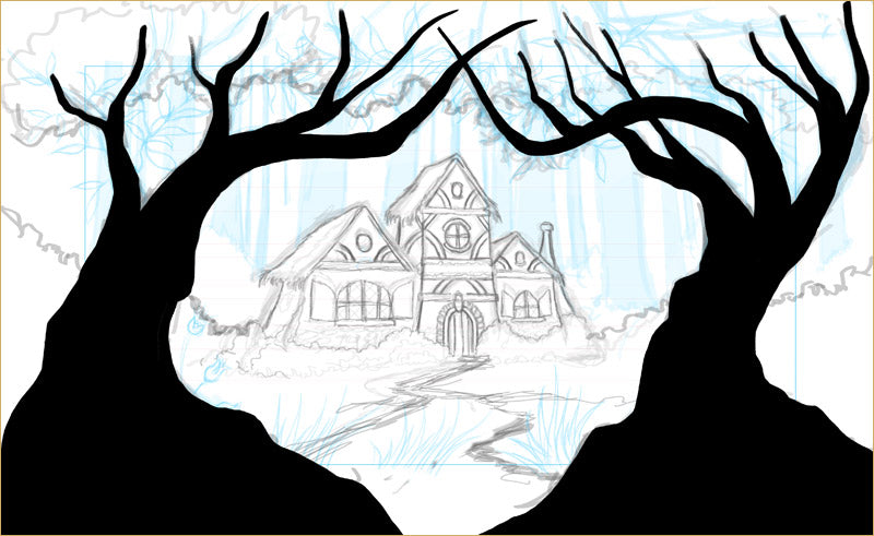 Digital design in progress for Snow White theatre and dance projection