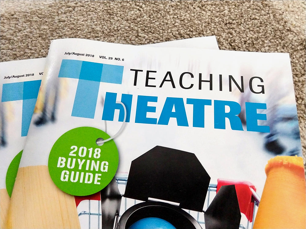 Cover of Teaching Theatre magazine with article about projections