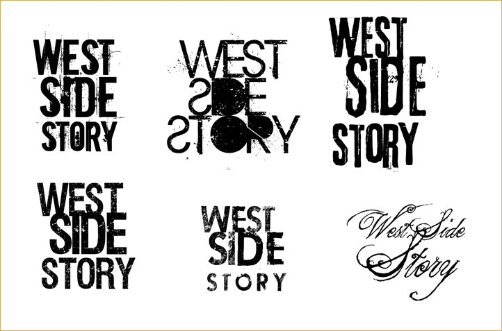 Design and typography tests for West Side Story poster art