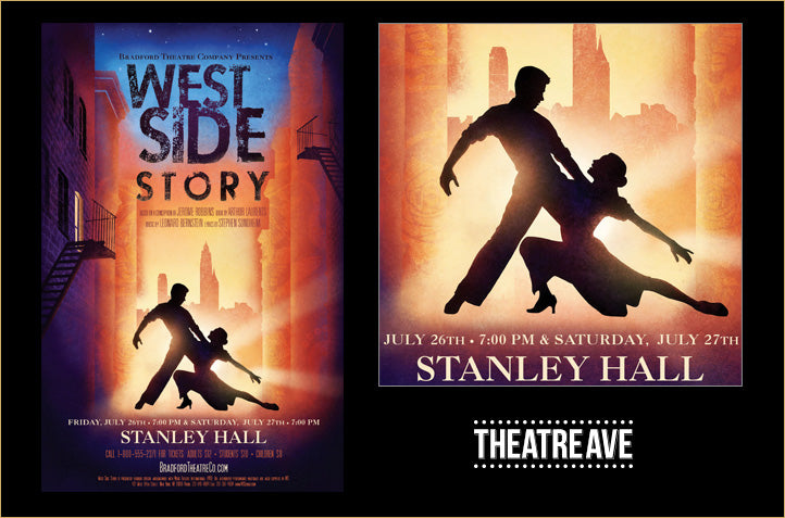 Original, modern poster design for West Side Story by Mitch Stark, founder of Theatre Avenue in Atlanta Georgia