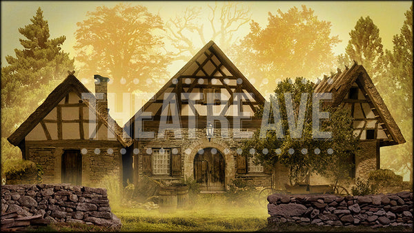 Three Cottages, a digital theatre projection perfect for shows like Into the Woods and Beauty and the Beast