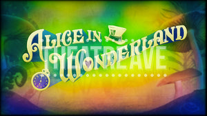 Alice in Wonderland title projection backdrop for theatre and ballet shows.