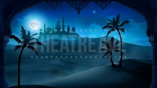 Arabian Nights projection backdrop for Aladdin