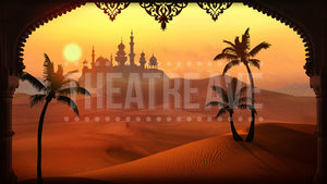 Arabian Palace, a theatre backdrop projection for shows like Aladdin and Ali Baba.