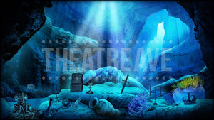 Little Mermaid projection backdrop called Ariel's Cove by Theatre Avenue