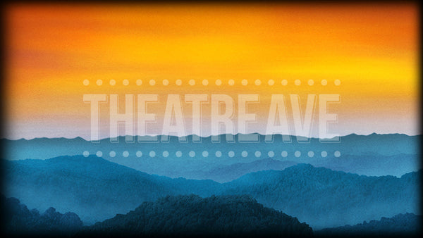 Bluegrass Mountains Gold, a theatre projection backdrop perfect for shows like Bright Star, Sound of Music, and Music Man