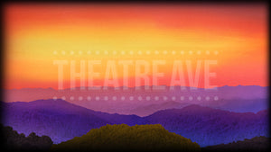 Sunset mountain digital projection for theatre shows like Bright Star, Oklahoma, and Big Fish