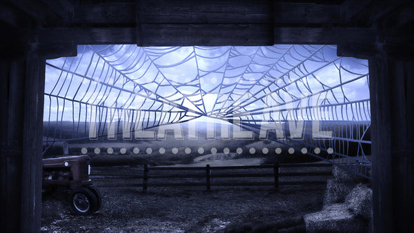 Barn at Night, a digital scenic projection for theatrical shows like Charlotte's Web