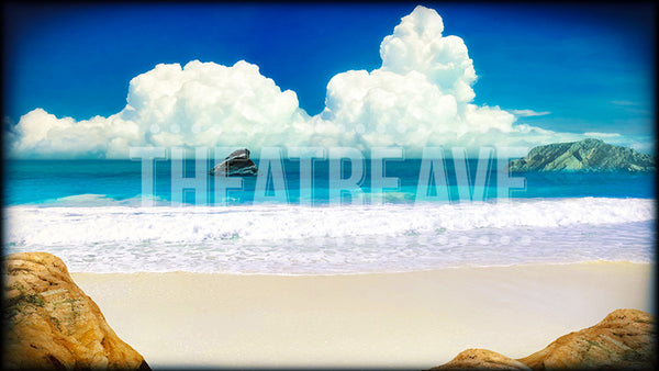 Beach Shore, a digital theatre projection backdrop great for theatrical and ballet performances.