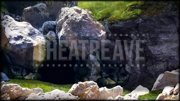 Big Cave Entrance, a Big Fish projection backdrop by Theatre Avenue